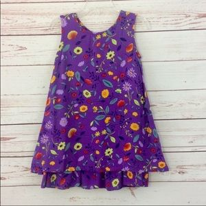 Talbots Kids Purple Floral Sun Dress Size 3T